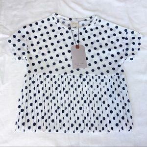 Zara NWT Polkadot Shirt Size 7 School Hipster